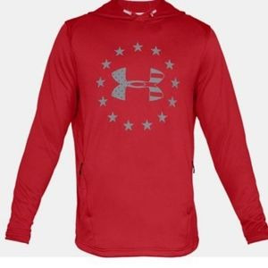 Under Armour Red Freedom Tech Hoodie L